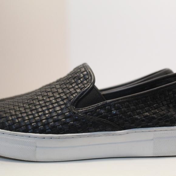 Jslides Sz 65 Black Woven Sneakers
